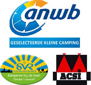 ANWB geselecteerde kleine camping, aangesloten bij ACSI en SVR